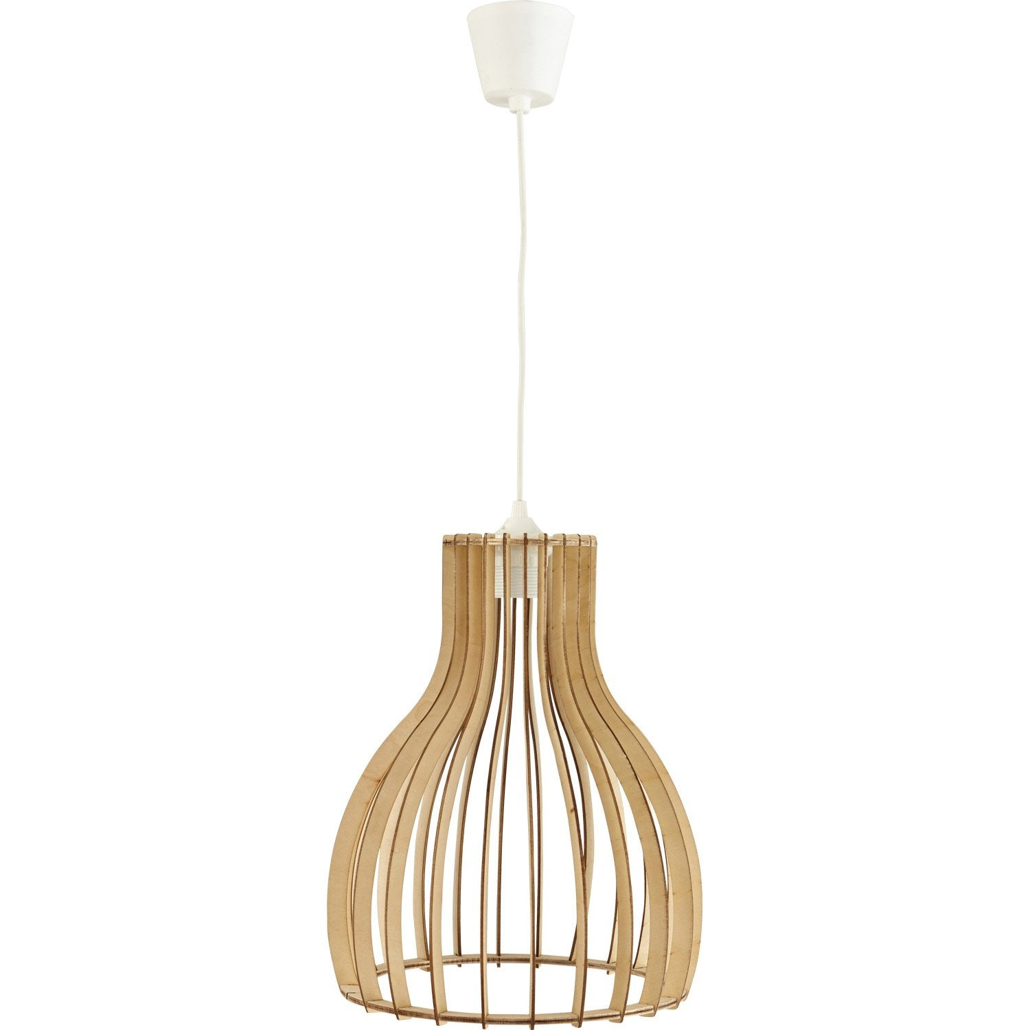 Suspension, e27  Helsinki bois bois naturel 1 x 60 W LUSSIOL