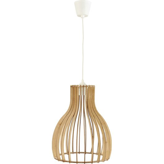 Suspension Nature Helsinki Bois Bois Naturel 1 X 60 W Lussiol Leroy Merlin