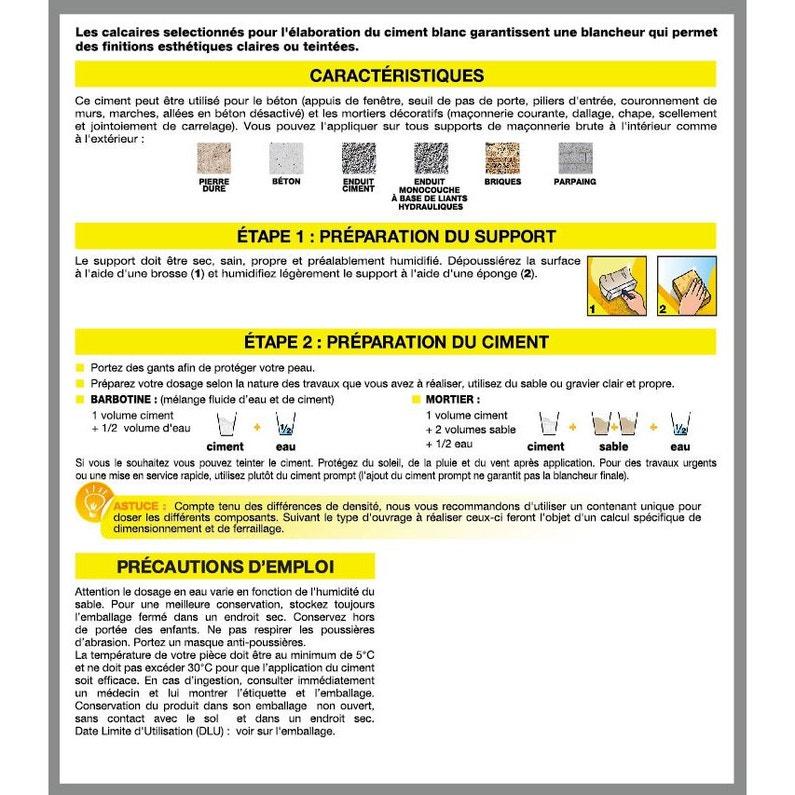 Ciment Poudre Blanc Axton 5 Kg