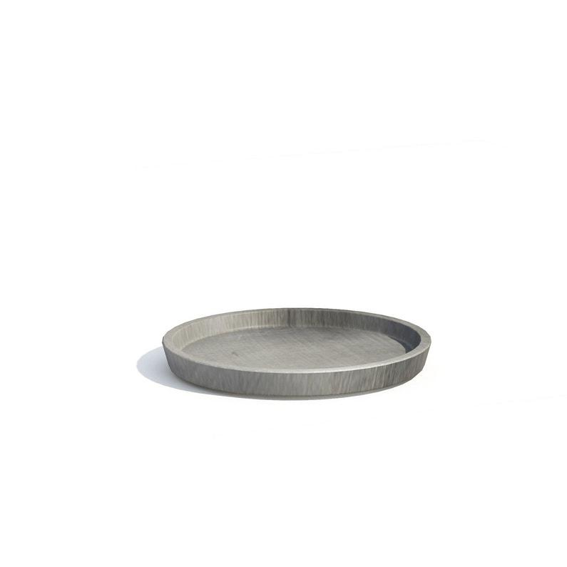 Soucoupe Plastique Ecopots Diam365 X H35 Cm Gris