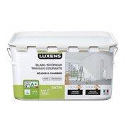 Peinture blanche mur et boiserie Travaux courants LUXENS, satin 2.5 l