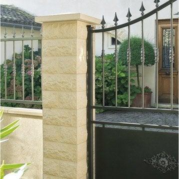 pilier pilier portail b ton leroy merlin. Black Bedroom Furniture Sets. Home Design Ideas