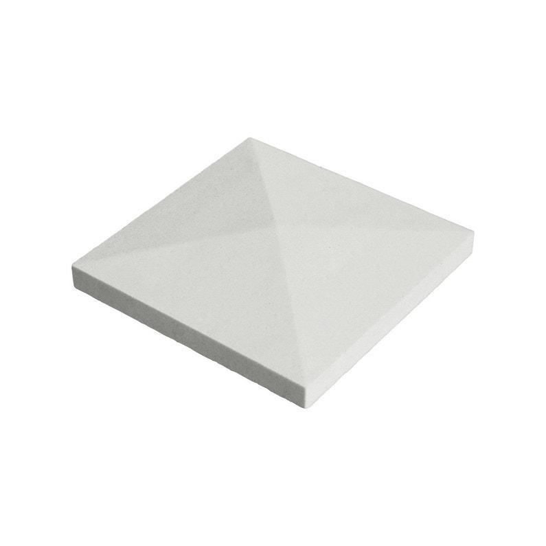 Chapeau De Pilier Pointe De Diamant 40x40 Cm Blanc