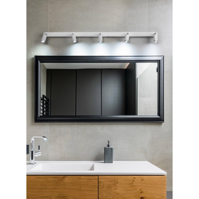 Rampe 5 spots led intégrée, design, métal, LUMIPLUS Tivoli