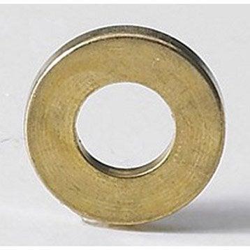 Lot de 6 bagues paumelles laiton pour meuble HETTICH, L.2 x Diam.13 mm