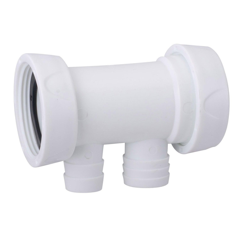 Siphon en t pour machine laver diam 40 mm leroy merlin - Hauteur siphon machine a laver ...