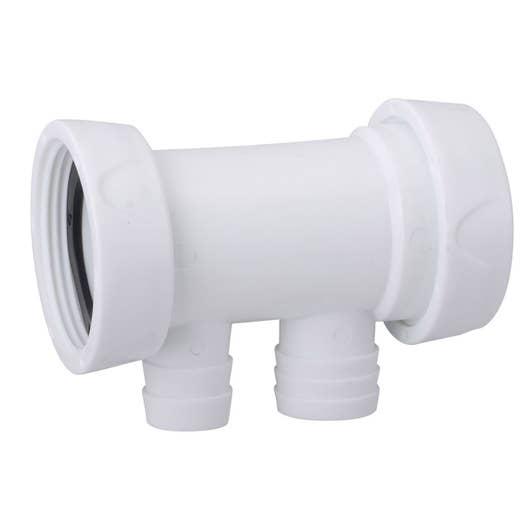 siphon en t pour machine laver diam 40 mm leroy merlin. Black Bedroom Furniture Sets. Home Design Ideas