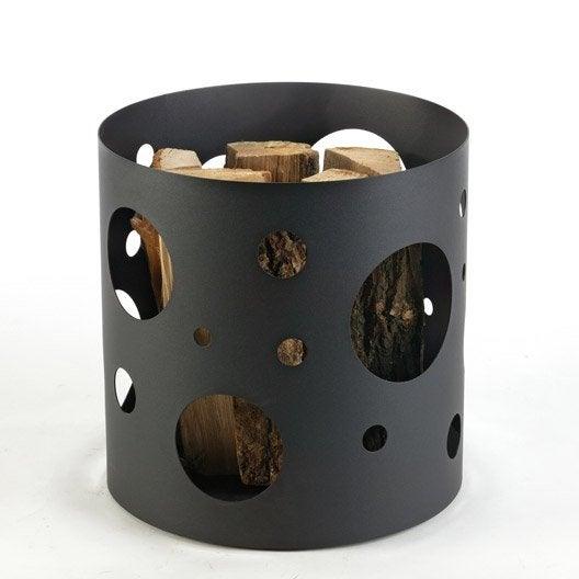 panier b ches acier noir atelier dix neuf comet leroy. Black Bedroom Furniture Sets. Home Design Ideas