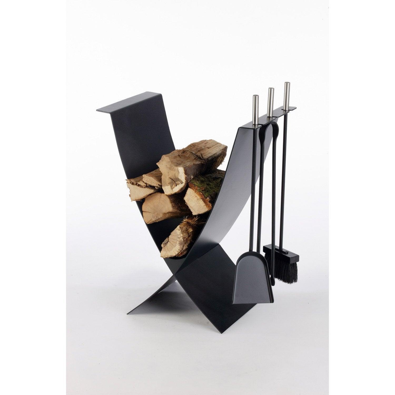 trendy porte bches acier noir atelier dix neuf ekiss with rangement buches exterieur. Black Bedroom Furniture Sets. Home Design Ideas
