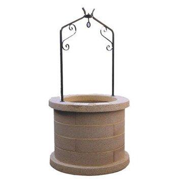 puits en pierre reconstitu e h80. Black Bedroom Furniture Sets. Home Design Ideas
