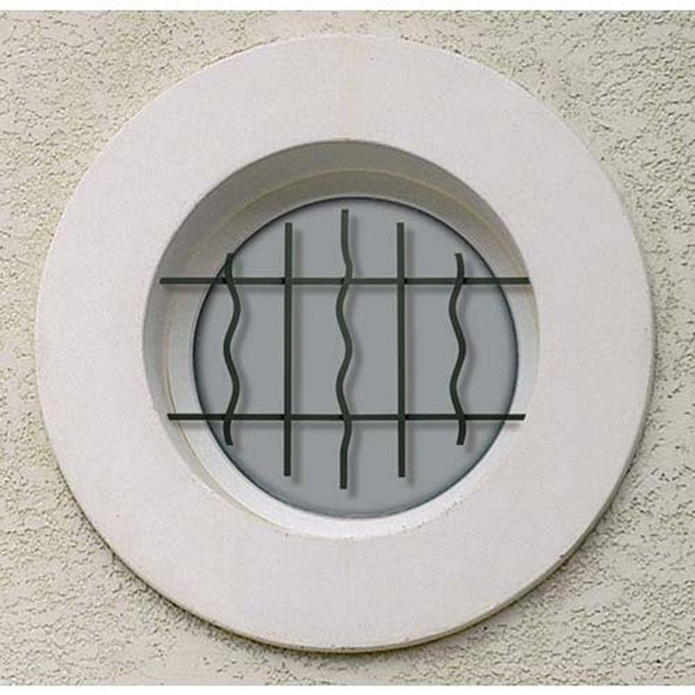grille de d fense pour oeil de boeuf mistral x cm leroy merlin. Black Bedroom Furniture Sets. Home Design Ideas