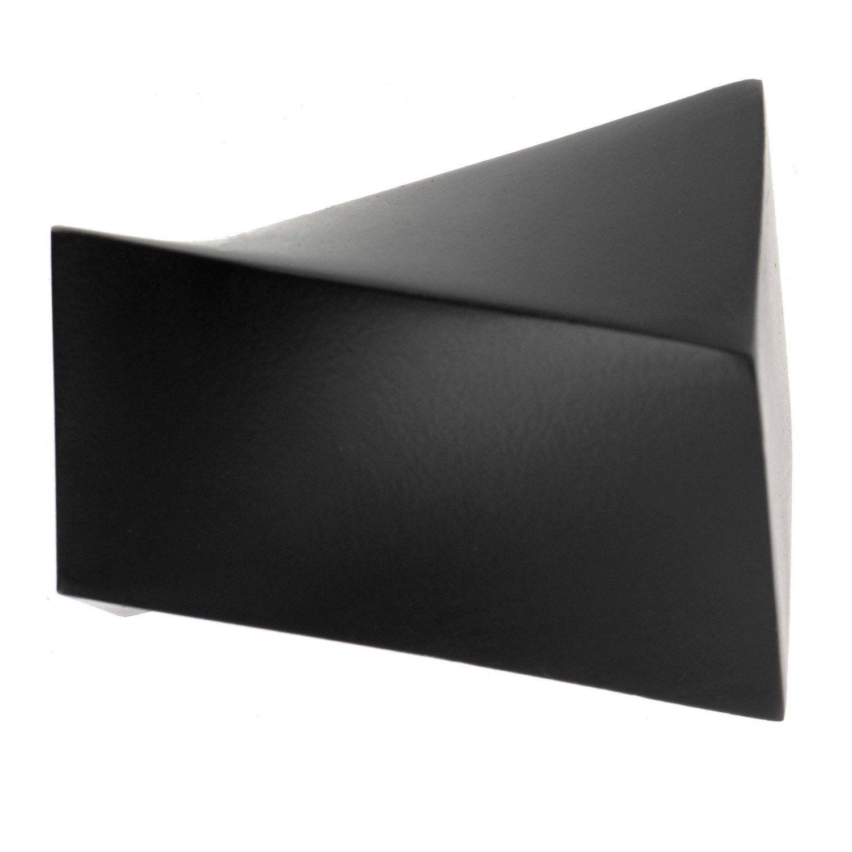 embout ib noir mat pour tringle rideau mm leroy merlin. Black Bedroom Furniture Sets. Home Design Ideas