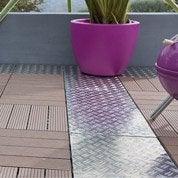 Dalle clipsable SNAP AND GO en aluminium gris, L 30xl 30 cmxEp 23 mm