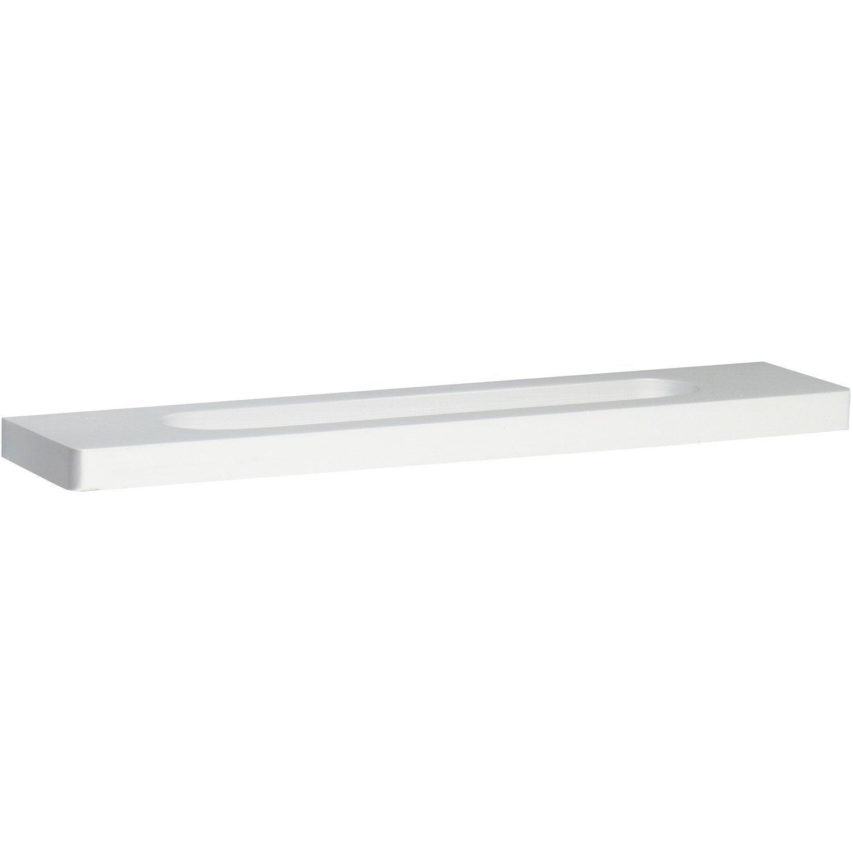 Poign e de meuble aluminium anodis entraxe 128 mm leroy merlin - Poignee de meuble entraxe 85mm ...