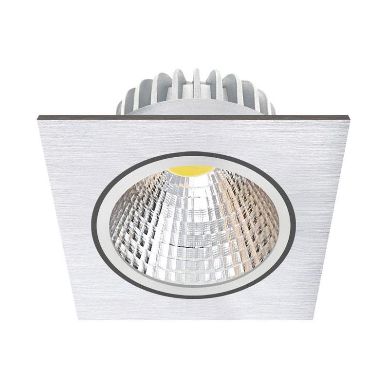Kit 1 spot à encastrer salle de bain LED orientable Wels, 3W, aluminium,  INSPIRE