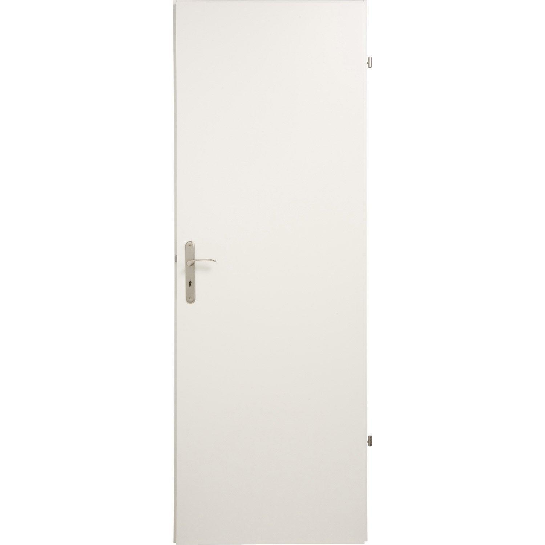 Porte Sans Bâti Médium Mdf Laquée Blanc Home H X L Cm - Porte laquée blanc
