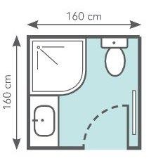 Elegant Optimiser 2,5 M² : Un Espace Douche En Arc De Cercle Avec Un Accès Du0027angle  Permet Du0027exploiter Toute La Surface.