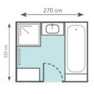 Bien am nager une petite salle de bains leroy merlin for Salle de bain 6 5 m2
