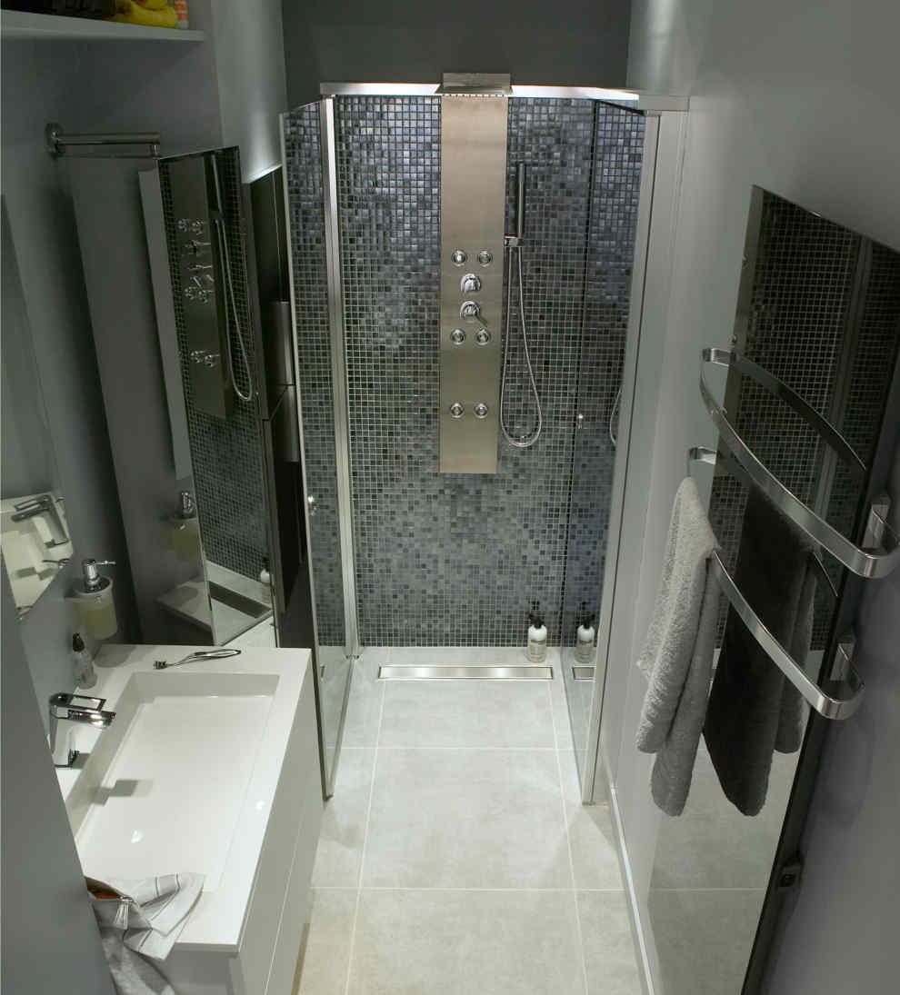 free crer luillusion with construire un meuble de salle de bain. Black Bedroom Furniture Sets. Home Design Ideas