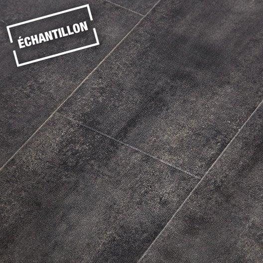 echantillon sol stratifi novofloor effet b ton noir 2cx leroy merlin. Black Bedroom Furniture Sets. Home Design Ideas