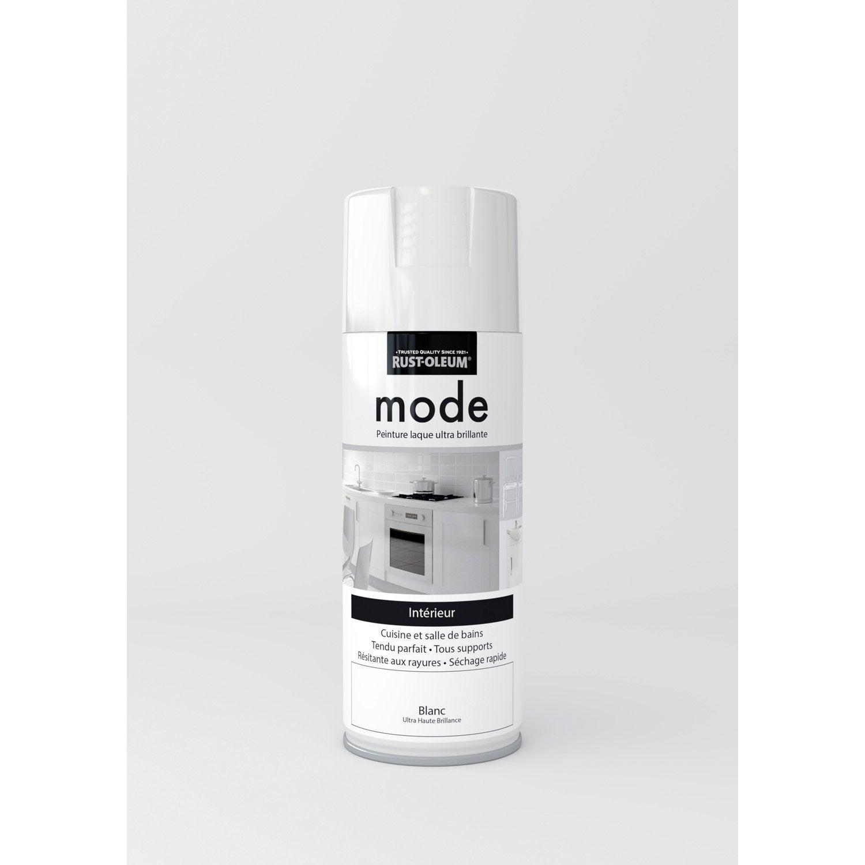 Peinture Aérosol Mode Brillant RUSTOLEUM, Blanc, 0.4 L
