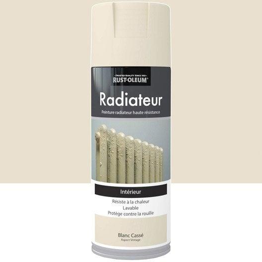 Peinture a rosol radiateur satin rustoleum blanc cass 0 - Peinture aerosol radiateur ...
