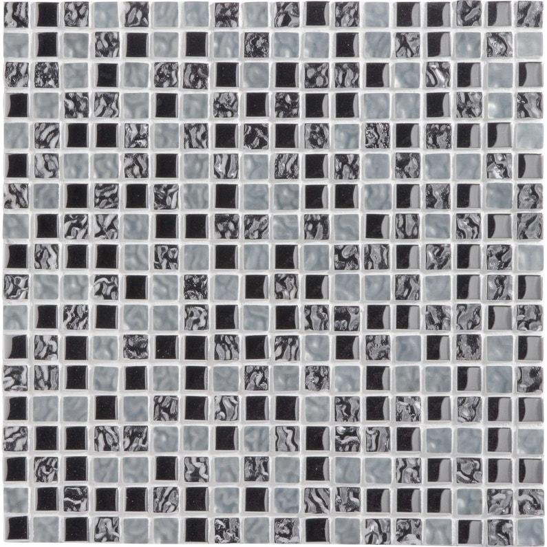 Mosaique Mur Ice Tendance Blanc Et Chrome 15 X Cm