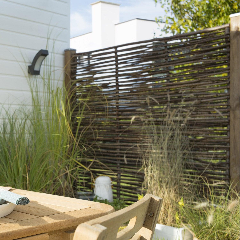 naturel panneau bois ajour l cm x h cm with brise vue terrasse leroy merlin. Black Bedroom Furniture Sets. Home Design Ideas