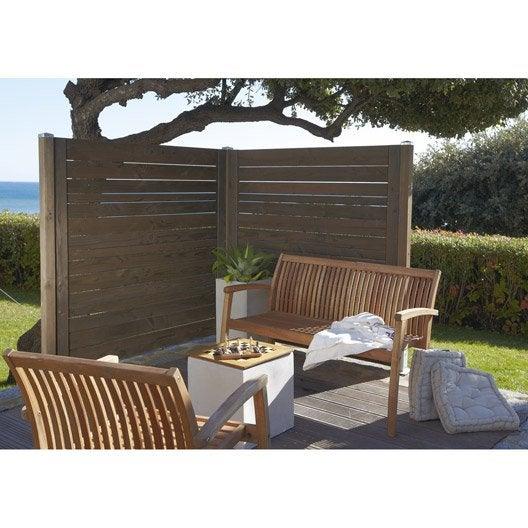 panneau bois ajour naterial x cm marron leroy merlin. Black Bedroom Furniture Sets. Home Design Ideas