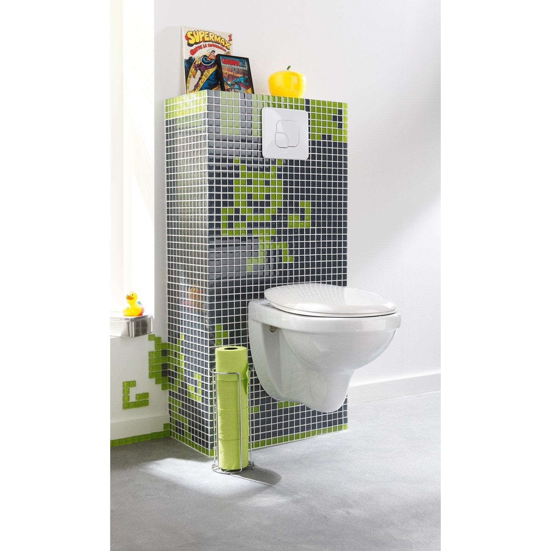 Meuble Coffrage Et Rangement Wc Meuble Toilette Au Meilleur  # Petit Meuble A Suspendre Pour Wc
