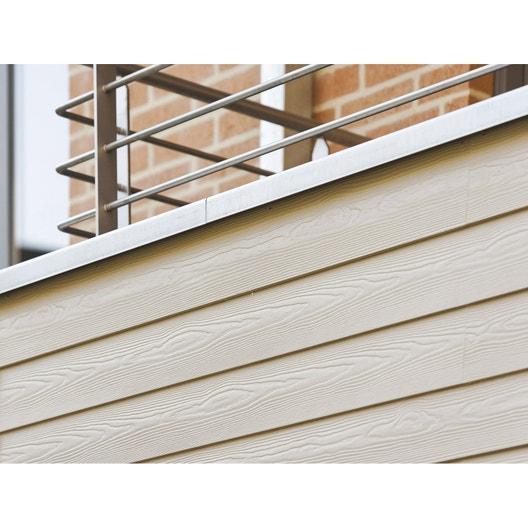 clin pour bardage fibrociment blanc ivoire eternit. Black Bedroom Furniture Sets. Home Design Ideas