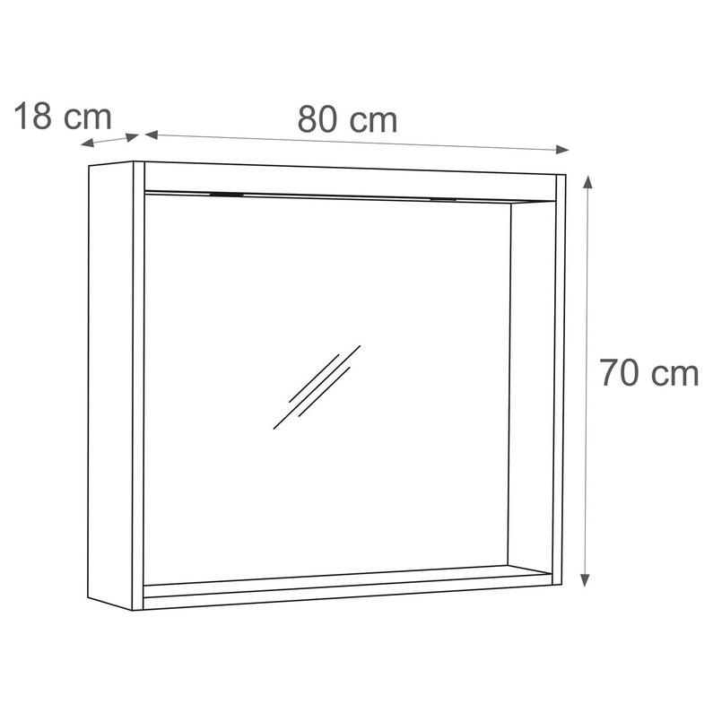Miroir Avec éclairage Intégré L 80 Cm Sensea Storm