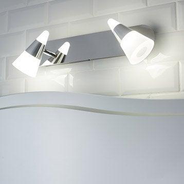 Spot patère Eviz, LED 2 x 7 W, LED intégrée blanc froid