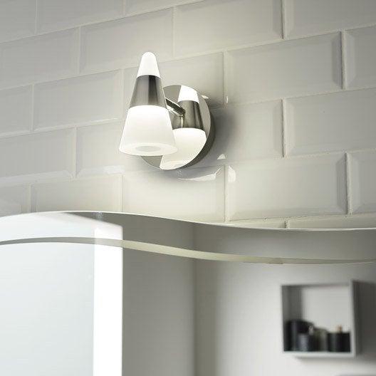 spot pat re eviz led 1 x 7 w led int gr e blanc froid leroy merlin. Black Bedroom Furniture Sets. Home Design Ideas