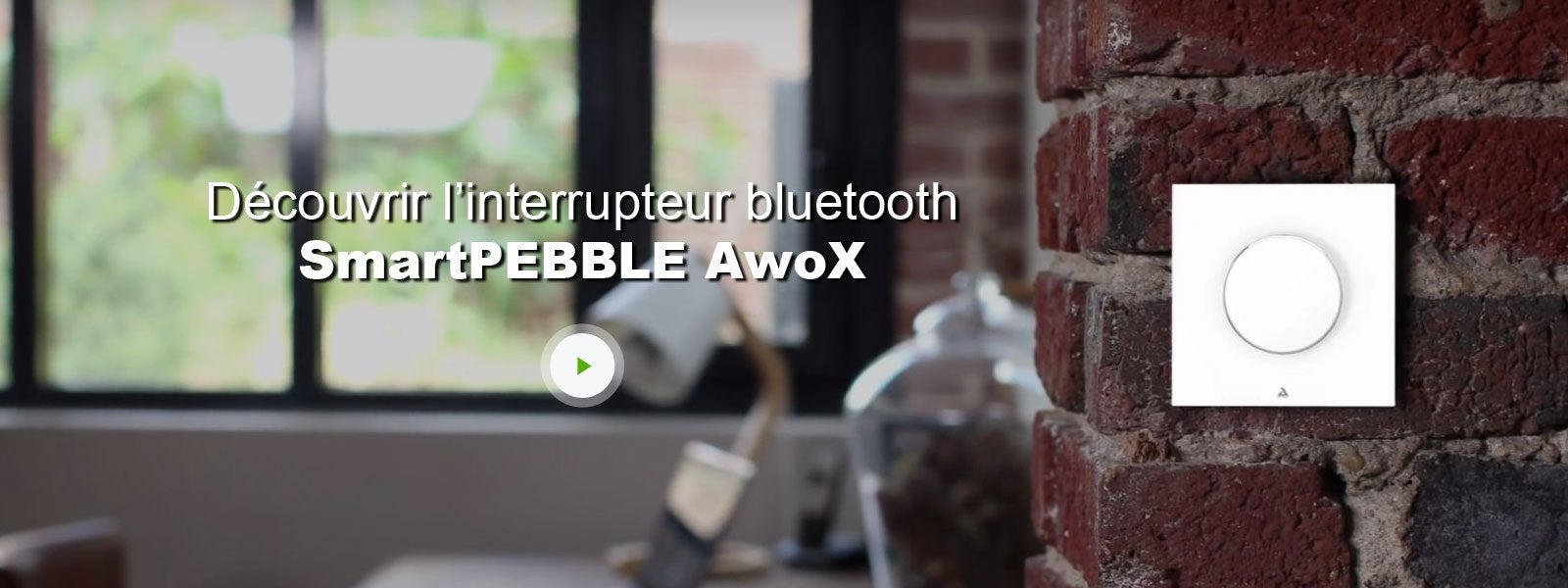 awox smartpebble interrupteur bluetooth commande gestuelle leroy merlin. Black Bedroom Furniture Sets. Home Design Ideas