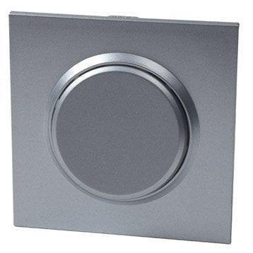 Interrupteur va-et-vient Epure, gris aluminium, LEXMAN