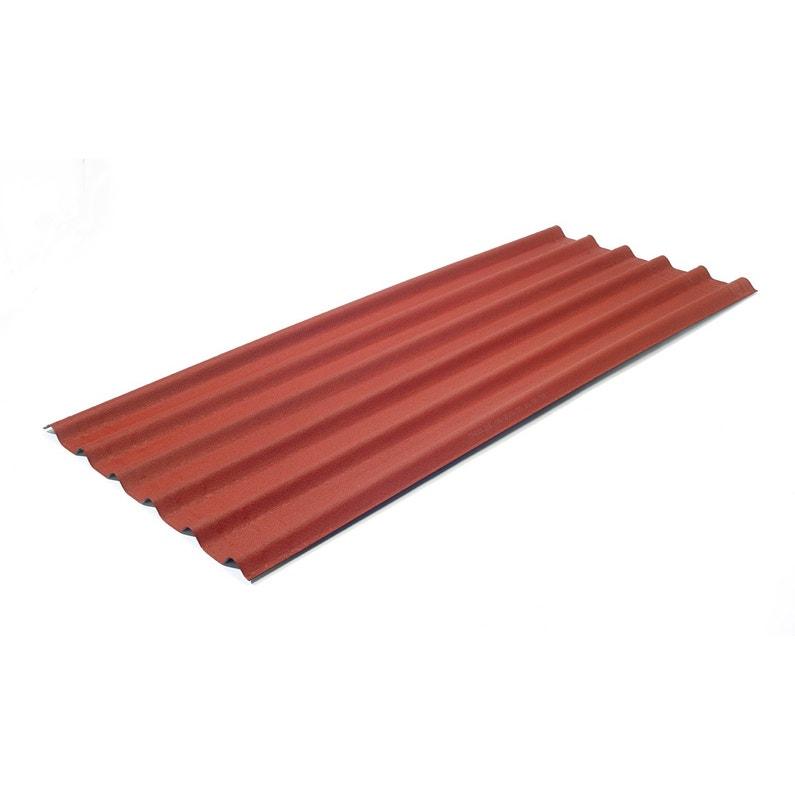 Plaque Ondulée Bitumée Rouge Intense L081 X L2 M
