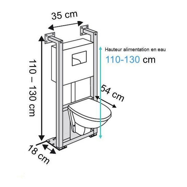 hauteur assise wc free hauteur wc suspendu standard. Black Bedroom Furniture Sets. Home Design Ideas