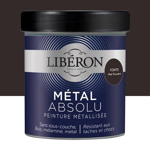 Peinture meuble objet porte m tallis liberon m tal - Peinture acrylique effet metal ...