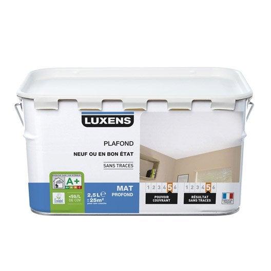 Peinture blanche plafond Neuf ou bon état LUXENS, mat profond 2.5 l