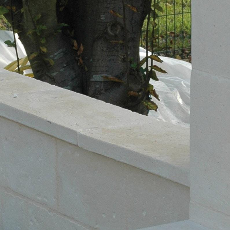 Couvre Mur Plat Cathare Imitation Pierre Beige H35 X L25 X P50 Cm