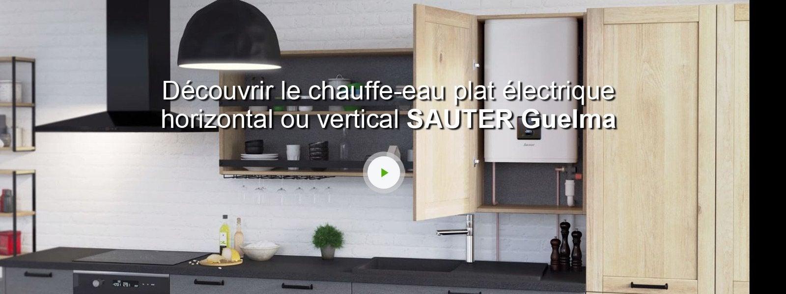 chauffe eau plat lectrique horizontal ou vertical sauter. Black Bedroom Furniture Sets. Home Design Ideas