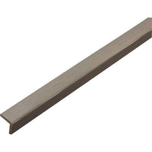 Baguette d 39 angle sapin arrondie sans noeud taupe 27 x 27 - Baguette d angle bois ...