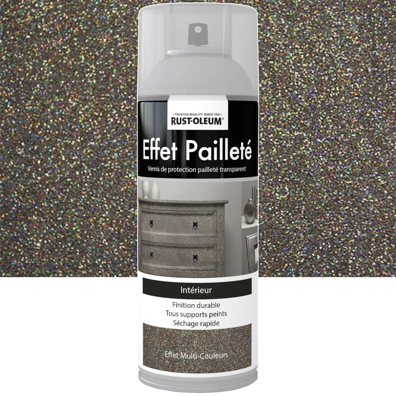 Peinture A Paillette Pour Meuble peinture aérosol effet paillettes pailleté rustoleum, multicolore, 0.4 l