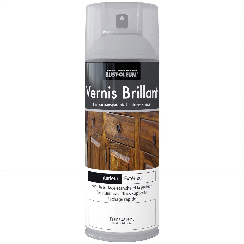 incroyable Vernis en bombe aérosol brillant RUSTOLEUM, incolore, 0.4 l