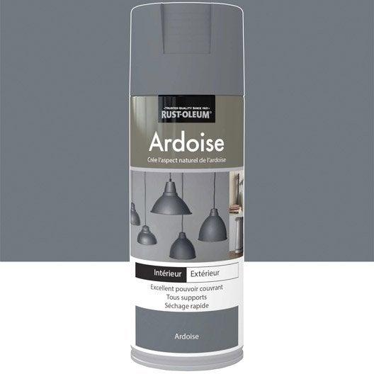 peinture a rosol effet bronze textur fer vieilli rustoleum gris ardoise 0 4 l leroy merlin. Black Bedroom Furniture Sets. Home Design Ideas