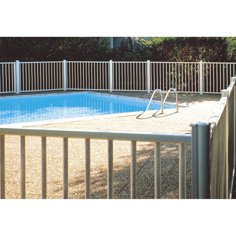Barri re pour piscine aluminium issambres blanc x cm leroy merlin - Dimension piscine pour ne pas payer d impot ...