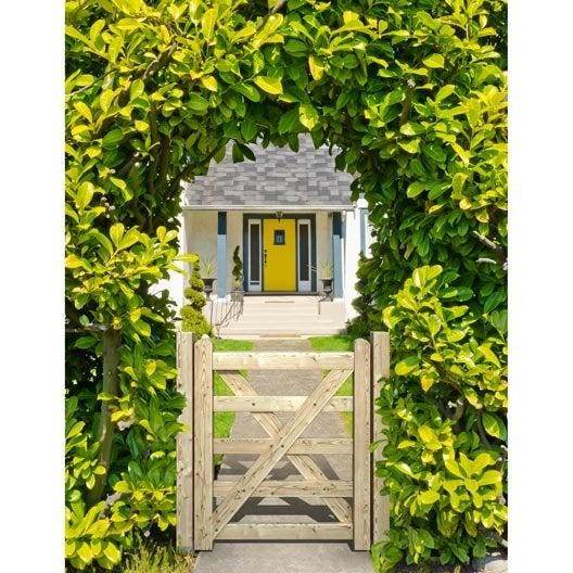 Portillon bois anglaise naturel x cm leroy merlin - Portillon jardin bois ...