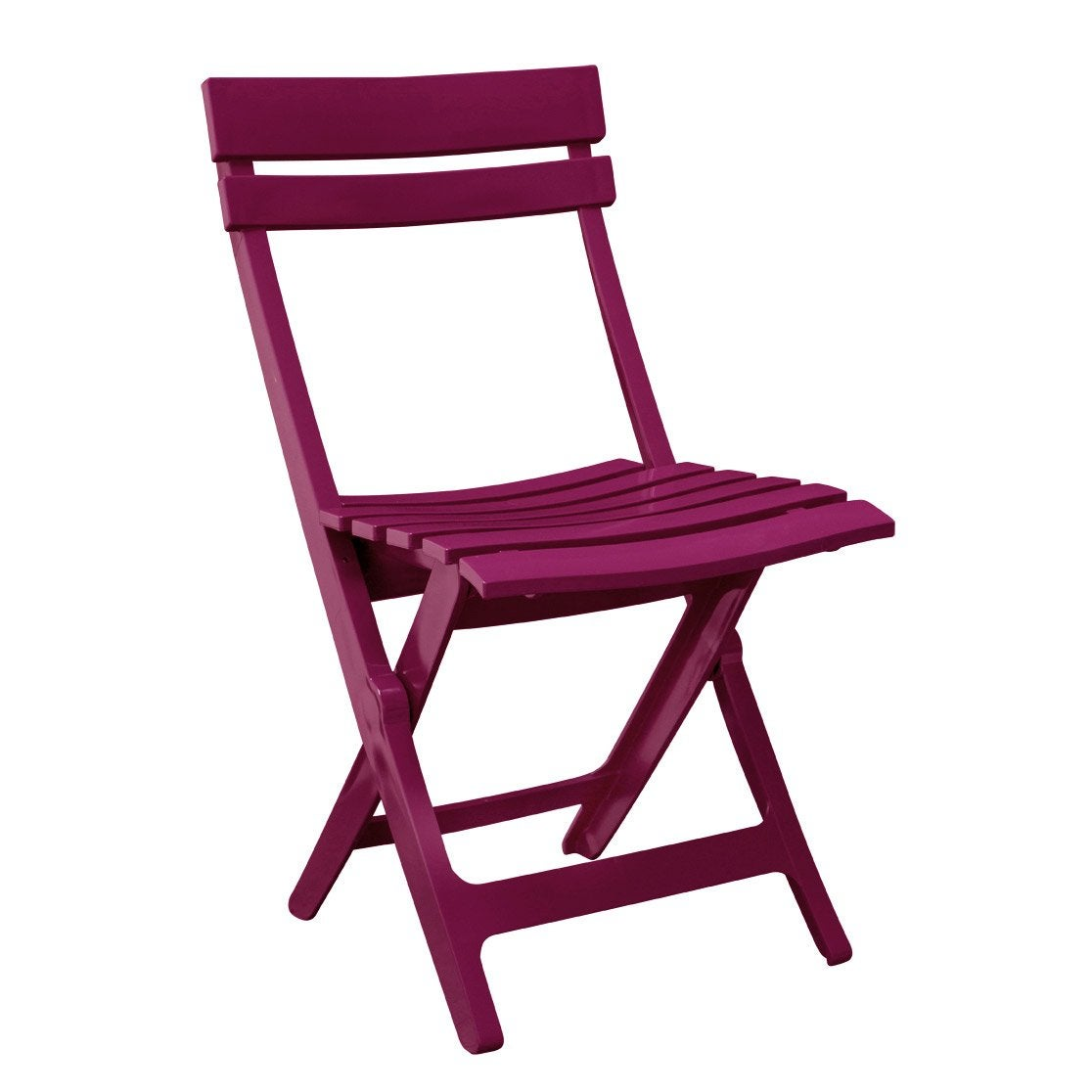 Chaise de jardin en résine injectée Miami framboise | Leroy Merlin