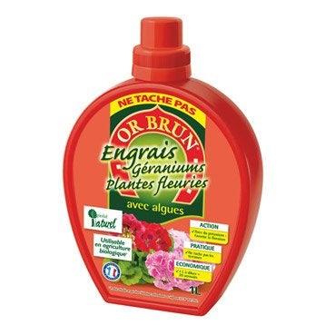 Engrais naturel géraniums et plantes fleuries OR BRUN 1l